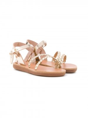 Плетеные сандалии Little Afrodite Ancient Greek Sandals. Цвет: золотистый