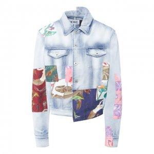 Джинсовая куртка x Paulas Ibiza Loewe. Цвет: синий
