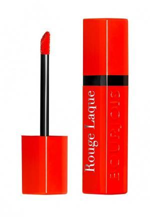 Помада Bourjois Rouge Laque, 4 Selfpeach!, 6 мл. Цвет: красный