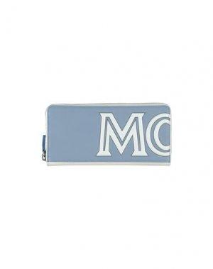 Бумажник MCM. Цвет: грифельно-синий