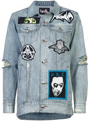 Джинсовая куртка с пэтчами потертостями Haculla