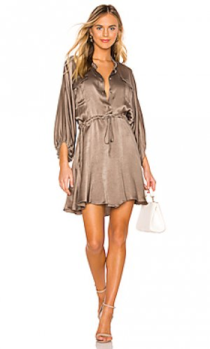 Платье elton Shona Joy. Цвет: оливковый