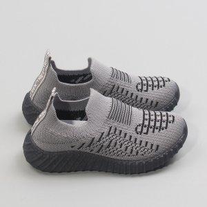Для мальчиков Беговая обувь в полоску SHEIN. Цвет: серый