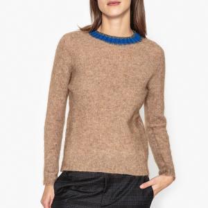 Пуловер из тонкого трикотажа SOLANGE MOMONI. Цвет: бежевый