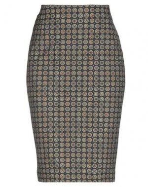 Юбка до колена LABORATORIO. Цвет: стальной серый