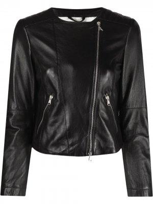 Куртка на молнии Patrizia Pepe. Цвет: черный