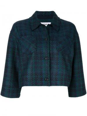 Твидовый пиджак COOHEM. Цвет: синий