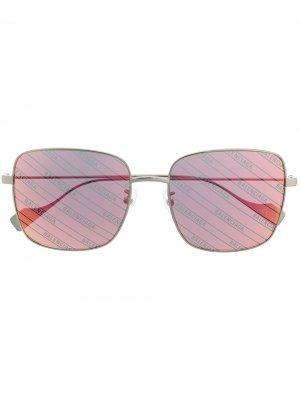 Ghost square sunglasses Balenciaga Eyewear. Цвет: серебристый