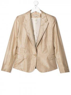 Пиджак с блестками ELIE SAAB JUNIOR. Цвет: золотистый