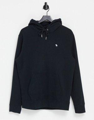 Худи черного цвета с логотипом -Черный цвет Abercrombie & Fitch