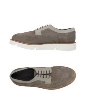 Обувь на шнурках ALBERTO GUARDIANI. Цвет: хаки
