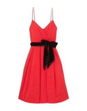 Платье длиной 3/4 J.CREW. Цвет: красный