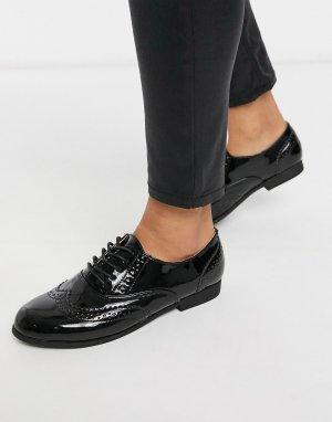 Черные броги на шнуровке -Черный Truffle Collection