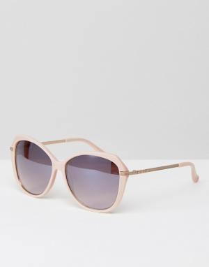 Розовые солнцезащитные очки кошачий глаз Lilla Ted Baker. Цвет: розовый