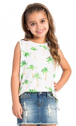 Майка palm tree breeze Chaser. Цвет: белый