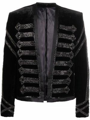 V-neck embroidered jacket Balmain. Цвет: черный