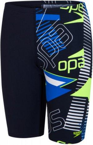 Плавки-шорты для мальчиков Allover Jammer, размер 140 Speedo. Цвет: синий