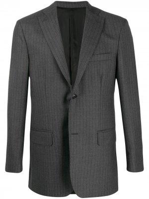 Пиджак в тонкую полоску Cobra S.C.. Цвет: серый
