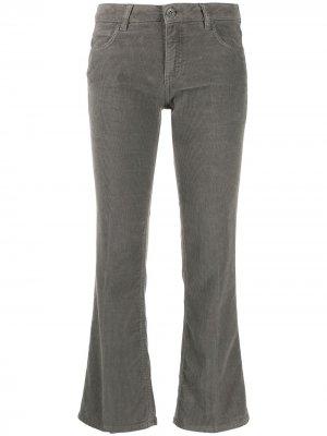 Укороченные расклешенные брюки Haikure. Цвет: серый