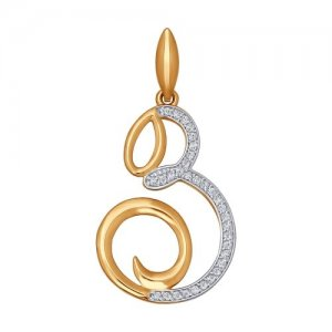 Кулон-буква «З» из золота SOKOLOV