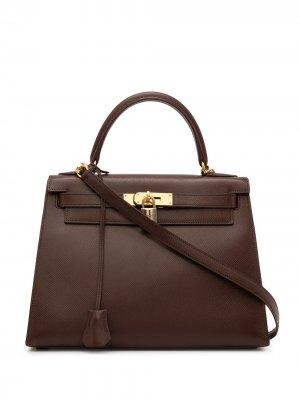 Сумка Kelly 28 Sellier 1992-го года Hermès. Цвет: коричневый