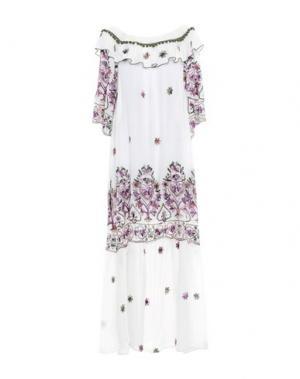 Длинное платье ANNA RACHELE RESORT. Цвет: белый
