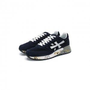 Замшевые кроссовки Mick Premiata. Цвет: синий