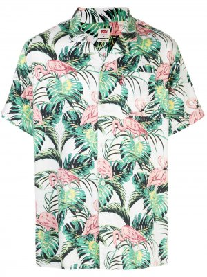 Levis рубашка с принтом Flamingo Leaf Levi's. Цвет: белый