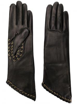 Перчатки Avril Agnelle. Цвет: черный