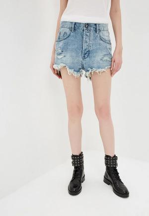 Шорты джинсовые One Teaspoon OUTLAWS. Цвет: голубой