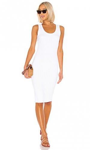 Платье-майка Enza Costa. Цвет: белый