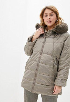 Куртка утепленная Milanika. Цвет: бежевый