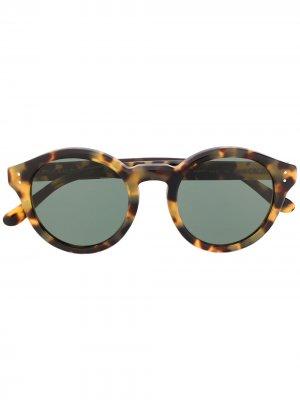 Солнцезащитные очки в оправе черепаховой расцветки Polo Ralph Lauren. Цвет: черный