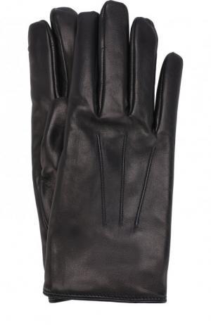 Кожаные перчатки Brioni. Цвет: синий