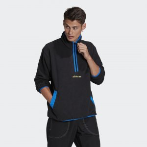 Флисовый свитшот Adventure adidas. Цвет: черный
