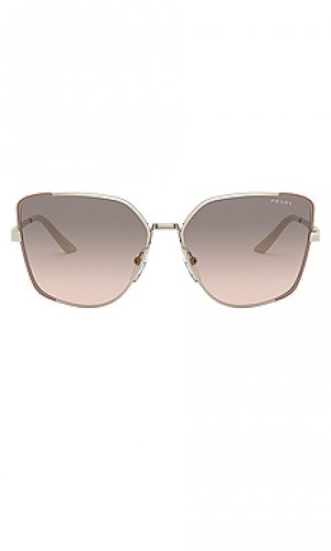 Солнцезащитные очки asia square Prada. Цвет: серый