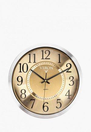 Часы настенные Viron. Цвет: серебряный