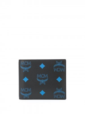 Бумажник с монограммой MCM. Цвет: черный