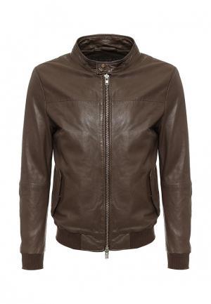 Куртка кожаная Blouson BL033EMQGN51. Цвет: коричневый