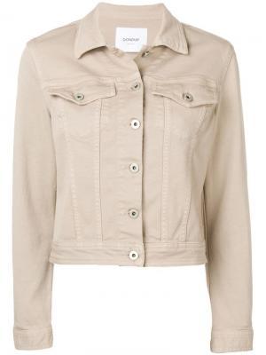 Укороченная джинсовая куртка Dondup. Цвет: коричневый