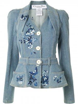 Джинсовая куртка pre-owned Christian Dior. Цвет: синий