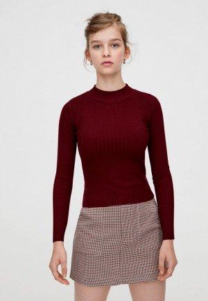 Пуловер Pull&Bear. Цвет: бордовый