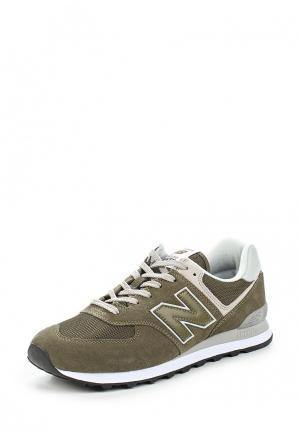 Кроссовки New Balance 574 Essential. Цвет: зеленый