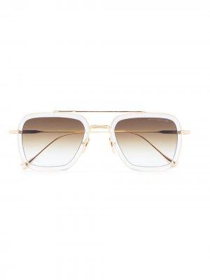 Солнцезащитные очки Flight.006 Dita Eyewear. Цвет: золотистый