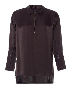 Блуза 29CY336/7 42 баклажановый ROQUE ILARIA NISTRI. Цвет: баклажановый