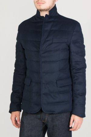 Синяя стеганая куртка Colombo. Цвет: синий