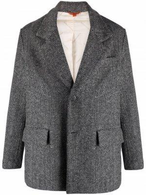 Пиджак с узором в елочку Barena. Цвет: черный