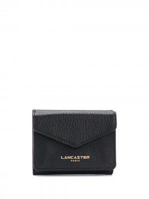 Компактный кошелек с логотипом Lancaster. Цвет: черный