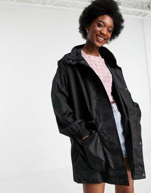 Черная куртка-дождевик с четырьмя карманами -Черный ASOS DESIGN