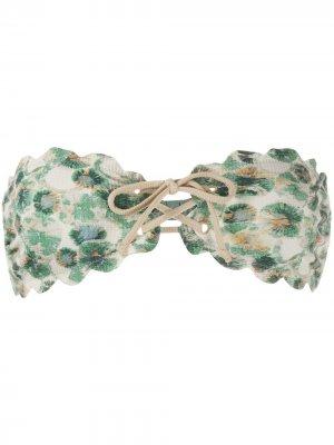 Лиф бикини Antibes с завязками Marysia. Цвет: зеленый